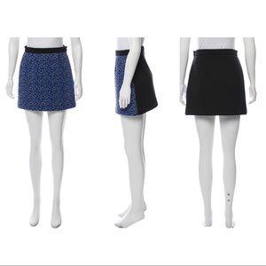 Balenciaga woven mini skirt
